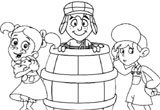 Turma do Chaves para Colorir